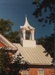 Bridgewater College, Memorial Hall roof and belfry against a bright blue sky, 1988 by Bridgewater College