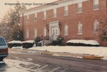 Bridgewater College, Melissa Pollock (photographer), Moomaw Hall in snow, January 1990 by Melissa Pollock