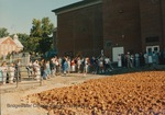 Bridgewater College, Crowd at groundbreaking ceremony for Nininger Hall addition, 15 September 1988 by Bridgewater College