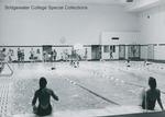 Bridgewater College, Swim meet at the Nininger Hall swimming pool, 1981 by Bridgewater College