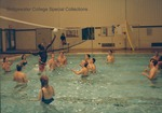 Bridgewater College, Students playing volleyball in the Nininger Hall swimming pool, Beach Bash, 15 September 1987 by Bridgewater College