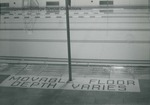 Bridgewater College, The movable floor mosaic sign at the Nininger Hall swimming pool, undated by Bridgewater College