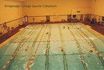 Bridgewater College, Swimmers in lanes at the Nininger Hall swimming pool, undated by Bridgewater College