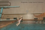 Bridgewater College, A girl diving into the Nininger Hall swimming pool, undated by Bridgewater College