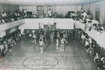 Bridgewater College, Basketball game in the old gymnasium, undated by Bridgewater College