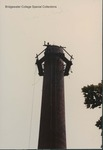 Bridgewater College, A chimney at the Heating Plant under repair, August 1988