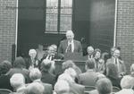 Bridgewater College, Wayne F. Geisert speaking at the Paul V. Phibbs Maintenance Center Dedication, 1 November 1991 by Bridgewater College