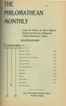 Philomathean Monthly Volume 3 (1898-1899) by Bridgewater College