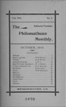 Philomathean Monthly Volume 8 (1903-1904)