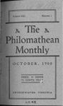 Philomathean Monthly Volume 13 (1908-1909)