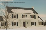 Bridgewater College President's House in snow and decorated for Christmas, 15 January 1996 by Bridgewater College