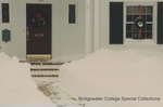 Bridgewater College, Cleared walkway in snow at President's House, 15 January 1996 by Bridgewater College