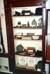 Bridgewater College, Thelma Replogle (photographer), Equipment from various wars case in the Reuel B. Pritchett Museum, September 1988 by Thelma Replogle