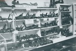 Bridgewater College, Photograph showing a section of the carpentry tool wall in the Reuel B. Pritchett Museum, undated by Bridgewater College