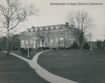 Bridgewater College, Rebecca Hall with a forked walkway in front, 23 March 1946 by Bridgewater College
