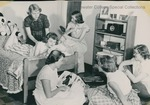Bridgewater College, Paul Yoder Jr. (photographer), women relaxing in a residence hall room, undated by Paul Yoder Jr
