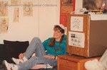 Bridgewater College, A student in her residence hall room, probably 1990s by Bridgewater College