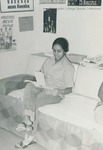 Bridgewater College, Student reading in her residence hall room, circa 1975 by Bridgewater College