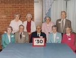 Bridgewater College, Group portrait of the Class of 1930 on Alumni Day, 6 May 1995 by Bridgewater College