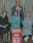 Bridgewater College, Group portrait of the Class of 1931 at Alumni Weekend, 11 May 1996 by Bridgewater College