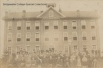 Bridgewater College, Group portrait of the Virginia Normal School faculty and students outside their main building, Spring 1889 by Bridgewater College