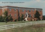 Bridgewater College, Wakeman Hall behind white fence, 1988 by Bridgewater College