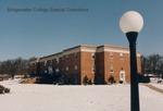 Bridgewater College, Wakeman Hall in snow under a blue sky, February 1986 by Bridgewater College