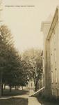 Bridgewater College, Looking down walkway in front of Wardo Hall, circa 1930 by Bridgewater College