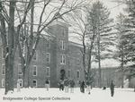 Bridgewater College, A men's snowball battle outside Wardo Hall, undated by Bridgewater College