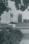 Bridgewater College, A vintage car parked outside Wright Hall, undated by Bridgewater College