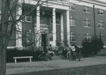 Bridgewater College, Students around front of Wright Hall, undated by Bridgewater College