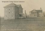 Bridgewater College, Early photograph postcard showing the buildings now known as Yount Hall and Memorial Hall, undated by Bridgewater College