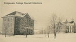Bridgewater College, Early photograph showing Yount Hall and Stanley Hall (now known as Memorial Hall) in snow, undated by Bridgewater College