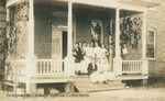 Bridgewater College, Photograph postcard showing some Yount Hall residents, female students, on the building's porch, 1913 by Bridgewater College