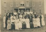 Bridgewater College, Group portrait of Yount Hall residents with Matron Elizabeth Gibbel McCann, circa 1916 by Bridgewater College