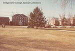 Bridgewater College, Yount and Memorial Hall from across the campus mall, January 1985 by Bridgewater College