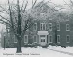 Bridgewater College, Yount Hall in snow, undated by Bridgewater College