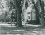 Bridgewater College, Students outside Yount Hall, undated by Bridgewater College